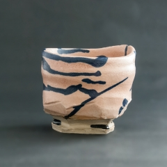 [SOLD] Pink and blue tea bowl