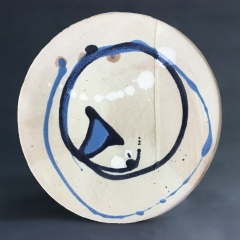 Turquoise triangle plate - small